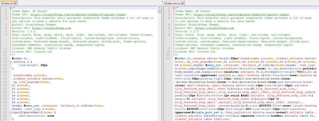 Минимизация CSS в Notepad++